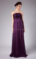 Fuchsia Silk Like Chiffon Sheath Sweetheart Long Bridesmaid Dresses (NZBD06131)