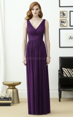 Glamorous Chiffon Regency A Line Long Bridesmaid Dress BDNZ1635