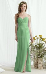 Glamorous Long DarkSage Sweetheart Chiffon Bridesmaid Dress BDNZ1669
