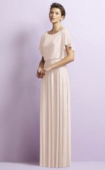 Chic Ivory Scoop Long A Line Chiffon Bridesmaid Dress BDNZ1688