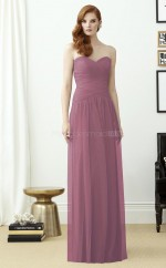 Chic Tulle Sweetheart Long A Line Purple Bridesmaid Dress BDNZ1726