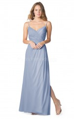 Long Straps Chiffon Lavender Bridesmaid Dress NZBD1883
