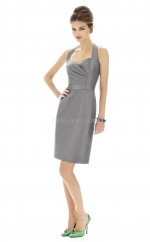 Taffeta Sheath Halter Short Bridesmaid Dresses (NZBD06203)