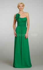 Clover Chiffon A-line One Shoulder Long Bridesmaid Dresses (NZBD06205)
