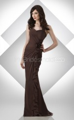 Chocolate Chiffon Mermaid Sweetheart Long Bridesmaid Dresses (NZBD06213)