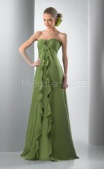 Clover Silk Like Chiffon Princess Sweetheart Floor-length Vintage Bridesmaid Dresses (NZBD06232)
