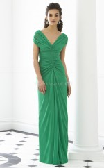 Clover Chiffon Sheath V-neck Long Bridesmaid Dresses (NZBD06249)