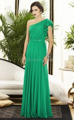 Clover Silk Like Chiffon A-line One Shoulder Long Bridesmaid Dresses (NZBD06261)