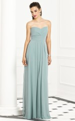 Sky Blue Chiffon A-line Sweetheart Long Bridesmaid Dresses (NZBD06272)
