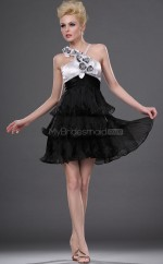 Black Tulle A-line Halter Short Vintage Bridesmaid Dresses (NZBD06408)
