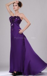 Regency Chiffon A-line Strapless Long Bridesmaid Dresses (NZBD06439)