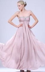 Lavender Chiffon A-line Strapless Long Bridesmaid Dresses (NZBD06467)