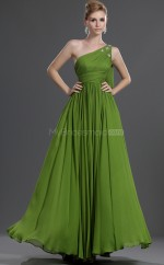 Lime Green Chiffon A-line Off The Shoulder Long Bridesmaid Dresses (NZBD06471)