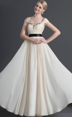 Ivory Chiffon A-line One Shoulder Long Bridesmaid Dresses (NZBD06472)