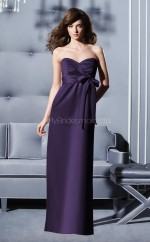 Grape Chiffon Sheath Sweetheart Long Bridesmaid Dresses (NZBD06667)