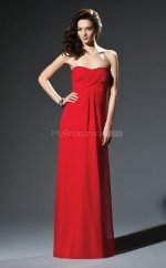 Red Chiffon Sheath Sweetheart Long Bridesmaid Dresses (NZBD06669)
