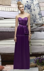 Grape Charmeuse A-line Sweetheart Long Bridesmaid Dresses (NZBD06701)