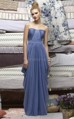 Lavender Chiffon A-line Sweetheart Long Bridesmaid Dresses (NZBD06709)