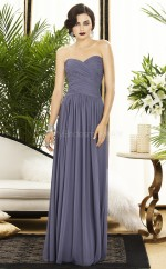 Lavendar Chiffon A-line Sweetheart Long Bridesmaid Dresses (NZBD06732)