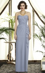 Lavender Chiffon Sheath Sweetheart Long Bridesmaid Dresses (NZBD06739)