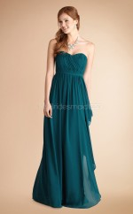 Ink Blue Chiffon A-line Sweetheart Long Bridesmaid Dresses (NZBD06780)