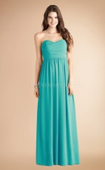 Green Chiffon A-line Sweetheart Long Bridesmaid Dresses (NZBD06782)