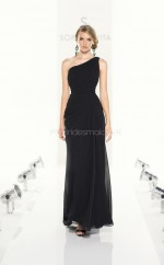 Black Chiffon Sheath One Shoulder Ankle-length Bridesmaid Dresses (NZBD06823)