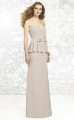 Light Gray Chiffon Sheath Sweetheart Long Bridesmaid Dresses (NZBD06841)