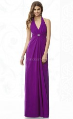 Regency Chiffon Sheath V-neck Long Bridesmaid Dresses (NZBD06853)