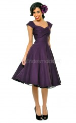 Regency Taffeta Knee Length Vintage Bridesmaid Dresses (NZBD06949)