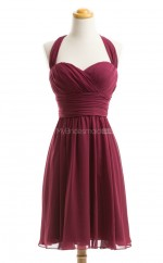 Exquisite Burgundy A Line Sweetheart Chiffon Bridesmaid Dresses (BSD097)