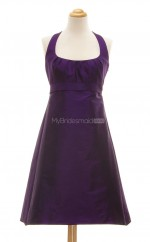 Luxurious Regency A Line Halter Taffeta Bridesmaid Dresses (BSD103)