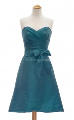 Discount Ink Blue A Line Sweetheart Taffeta Bridesmaid Dresses (BSD115)