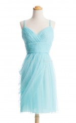 Luxurious Pool A Line V-Neck Chiffon Bridesmaid Dresses (BSD122)