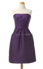 Luxurious Regency A Line Strapless Taffeta Bridesmaid Dresses (BSD159)