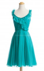Best Selling Jade A Line Scoop Chiffon Bridesmaid Dresses (BSD180)