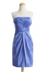 Chic Lavender Column/Sheath Strapless Satin Bridesmaid Dresses (BSD184)