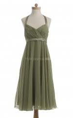Luxurious Clover A Line Halter Chiffon Bridesmaid Dresses (BSD211)