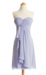 Fabulous Lilac A Line Strapless Chiffon Bridesmaid Dresses (BSD250)