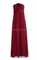 Custom Color Chiffon Long Bridesmaid Dresses BSD258