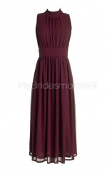 Custom Color Long Chiffon Bridesmaid Dress BSD262