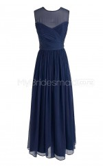 Custom Color Long Jewel Bridesmaid Dresses BSD281