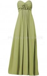 Custom Color A Line Long Bridesmaid Dress BSD329