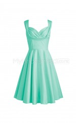A Line Short Bridesmaid Dress BSD339