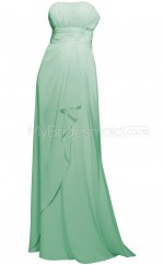 Custom Color Strapless Chiffon Long Bridesmaid Dress BSD345