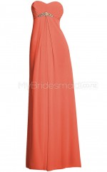 Custom Color Sweetheart Chiffon Long Bridesmaid Dress BSD355