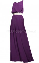 Custom Color A Line Long Bridesmaid Dress BSD359