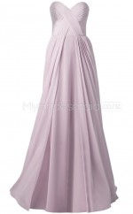 Custom Color Sweetheart Chiffon Long Bridesmaid Dress BSD365