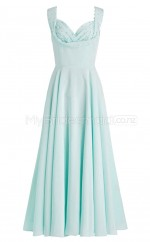 Custom Color Satin Chiffon Long Bridesmaid Dresses BSD368