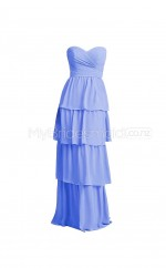Custom Color A Line Long Bridesmaid Dress BSD374